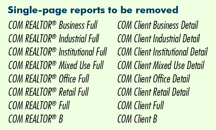Commercial Reports