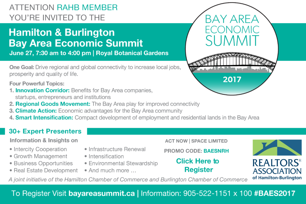 Invite to Bay Area Economic Summit, June 27, 2017