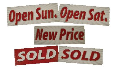 Open Signs Realty Shoppe