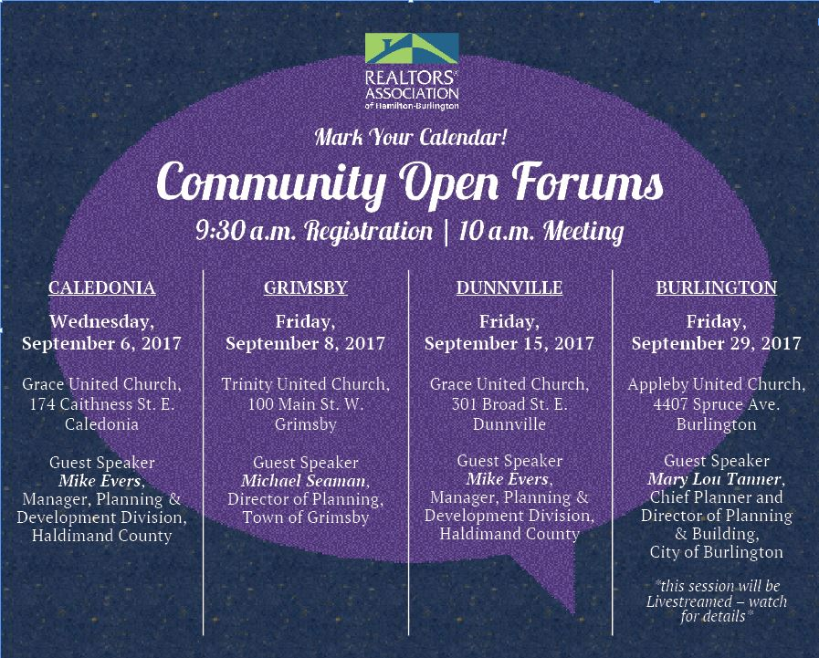 Community Open Forums