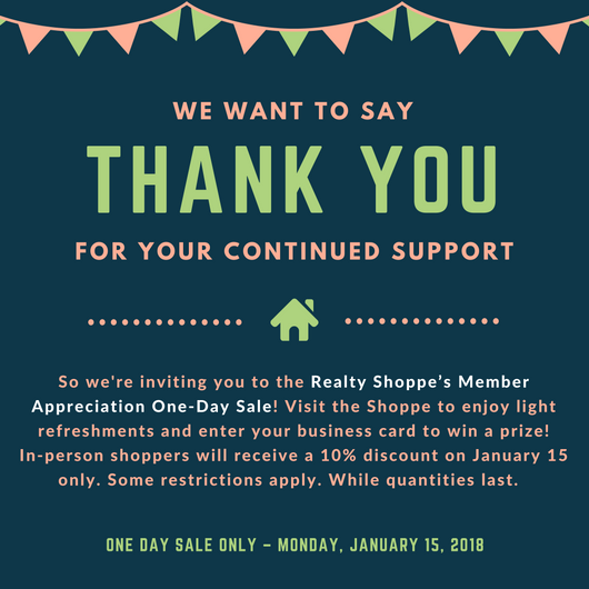 Realty Shoppe Appreciation Sale