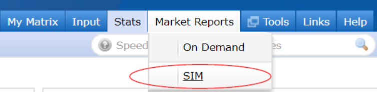 Six Matrix SIM Reports