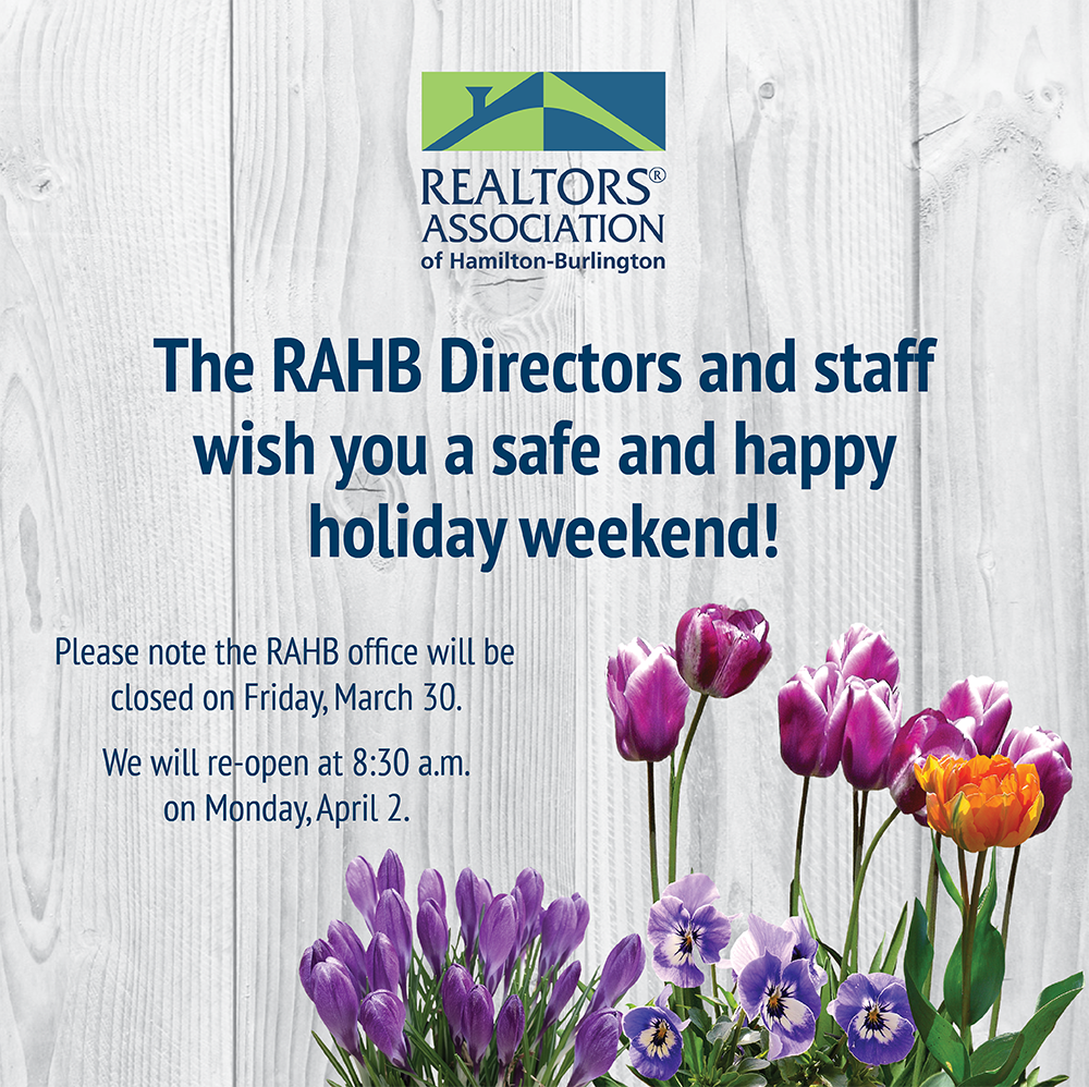 RAHB Easter Hours Poster